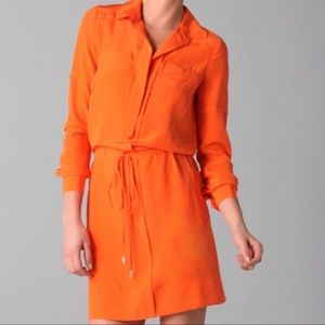 Diane VonFurstenberg Orange Silk Wrap Dress